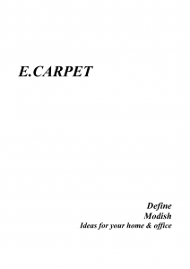 Define  Modish carpet sample-1