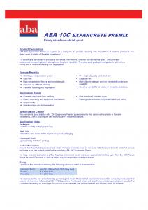 ABA10C Expancrete Premix_TDS-1